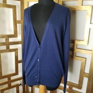 Victoria's Secret Blue Cardigan Button Sweater L